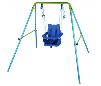 Garden Yard Play Toy Folding Kids Toddler Baby Swing with Seat Best Gift Outdoor