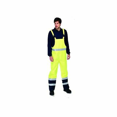 Hi Vis Waterproof Breathable Flame Retardant Anti-Static Bib n Brace Trousers