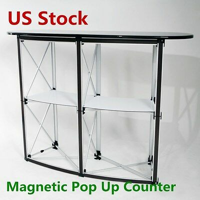 US Stock - Big Size Magnetic Pop Up Counter Display Stand for Trade show