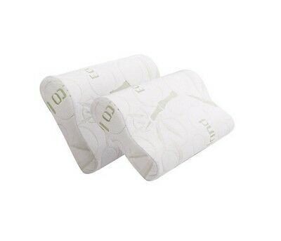50*30cm Two Bamboo Fabric Cover Contour Memory Foam Pillow