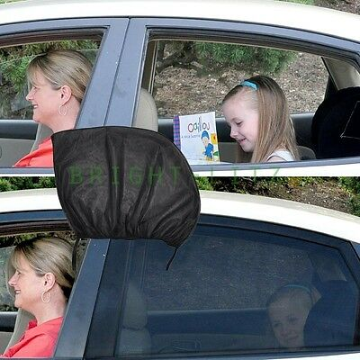 2xStretchable Universal Mesh Car Window Sunshade Blocker Shield Protection Child