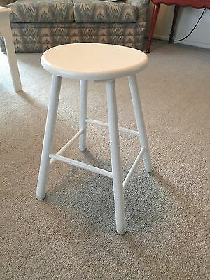 Retro Wooden Stool, Round Top, 500mm high, Collectable.