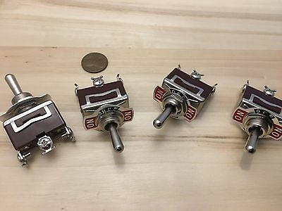 RED 3 PIN Latching lock Toggle switch ON OFF ON 12v 125v C41 1 Piece