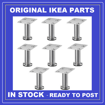 IKEA CAPITA x8 Legs ( small ) stainless steel leg pack for METOD **BRAND NEW **