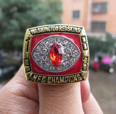 High Quality 1983 Washington Redskins Championship Ring Solid Men Gift