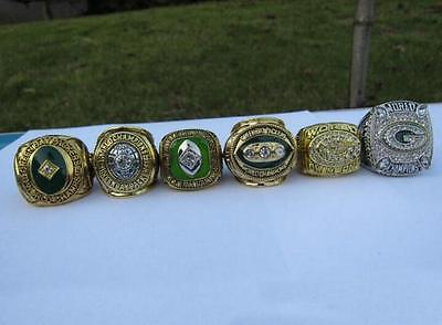 1961 1965 1966 1967 1996 2010 GREEN BAY PACKERS Championship Ring Set Fan Gift