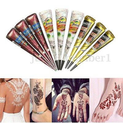 1/2/3pcs Henné Tatuaggi Herbal Henna Henne Temporary Tattoo Body Art Pittura HOT