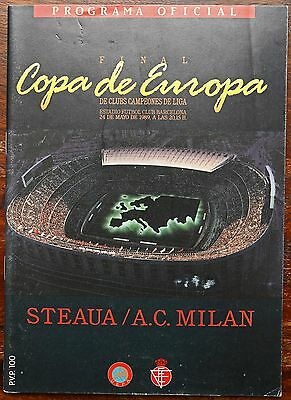 Steaua Bucharest v AC Milan 1989 European Cup Final programme