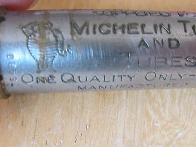 Pat 1909 Schrader Car Tire Pressure Gauge Adv Michelin Tires And Tubes Milltown