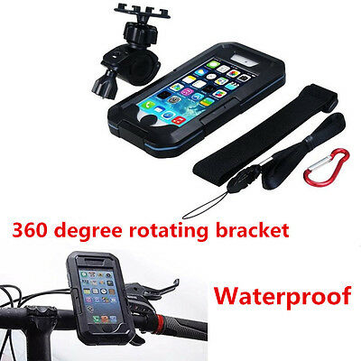 Motorcycle Waterproof Case & Mount,Shockproof Snowproof Case Holder For iPhone 7