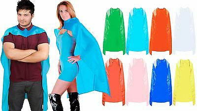 Super Hero Cape Mens Womens Comic Book Avenger Poncho Dress Accessory Costume