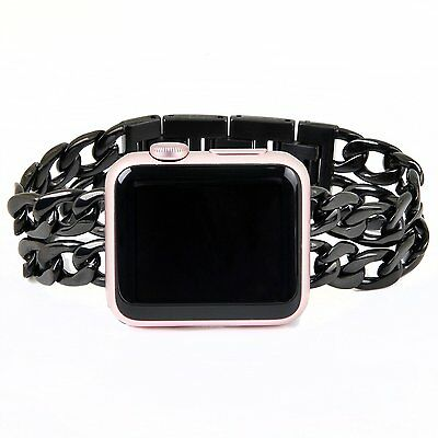 Apple Watch Bracelet Band Black Stainless Steel iWatch Chain Band