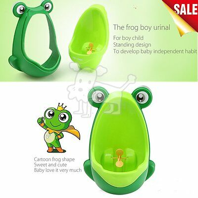 Kids Baby Toddler Boy Frog Potty Urinal Pee Toilet Home Training Trainer LOT 2.