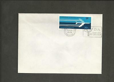 """ARGENTINA -1976 The 25th Anniversary of the """"Aerolineas Argentinas""""  - FDC."""