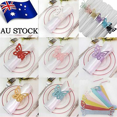 Butterfly Napkin Ring Holder Art Paper Wedding Party Home Decor 10PCS AU Stock