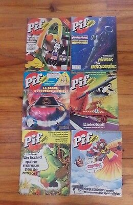 6 Revues Pif Gadgets - Annee 1979