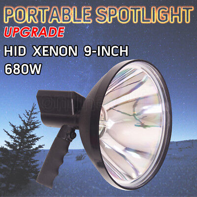 220W HID Hand held 240mm Spot Light Spotlight Camping Hunting Fishing Offroad AU