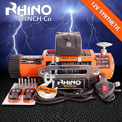 12V 4X4 SECOURS RHINO TREUIL 6123,5 kg DYNEEMA SK75 CORDE SYNTHÉTIQUE Pas 5896,5