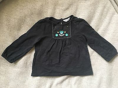Country Road Baby Girl Black Top Size 12-18 Months