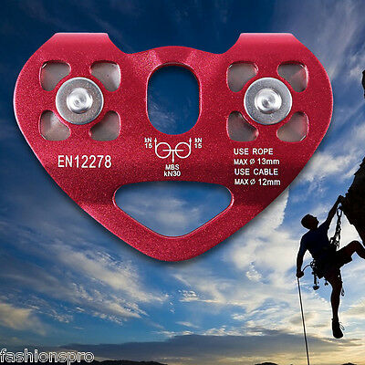 Outdoor Mountaineering Rock Climbing Zip Line Cable Trolley Fast Speed Pulley