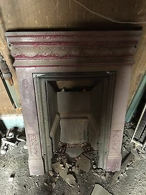 Vintage cast iron bedroom fire surround