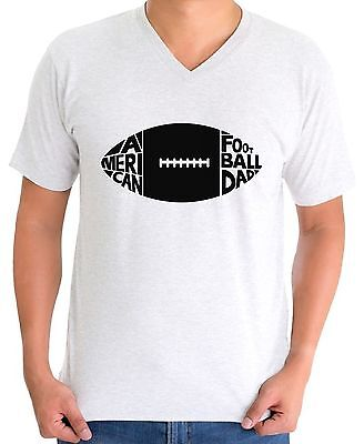 2d2a3a5a American Football Dad V-neck T shirt Tops Black Rugby Coach Player Cool Gift