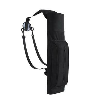 Large Back Archery Quiver Arrow Bag with Pocket & Strap Outdoor Bow Hunting