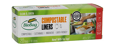 BioBag 10 Litres Compostable Food Waste Bin Liners (20's) - Free P&P Ireland!
