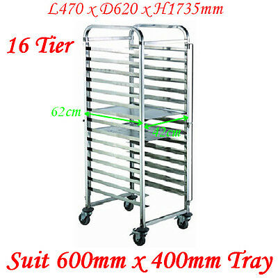 Stainless Steel 16 Tier Gastronorm Bakery Cake Trolley Suit 600x400 tray LR 15