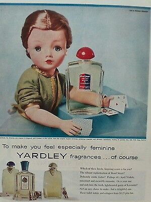 Yardley of London vintage print ad 1957 Madame Alexander Doll