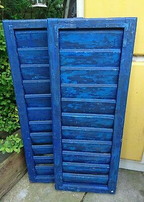 Vintage Wooden Hungarian / French Shutters Rustic Window Shutters Pair Original!