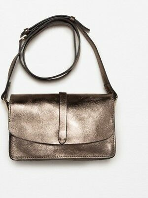 6ff1e4af ZARA GENUINE LEATHER Crossbody Bag BNWT two colours available RRP $69