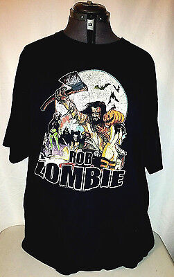 ROB ZOMBIE Hellbilly Deluxe 2 Tour Concert Short SleeveT Shirt  2009 Size XL