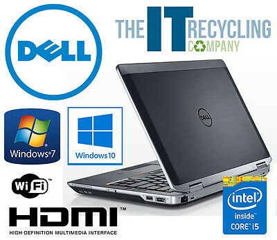 DELL LATITUDE E6320 LAPTOP- i5 2.5GHZ CPU, 4/8GB RAM, 250GB/500GB HD, WIN 7 & 10