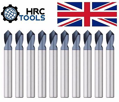 UK HRC Tools Solid Carbide NC Spot Drill 90° Degrees TiALN Coated Spotting Point