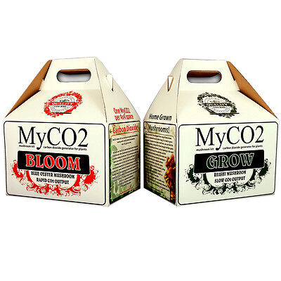 MyCO2 Grow & Bloom Box Carbon Dioxide Generator Mushroom Kit Exhale Bag My CO2