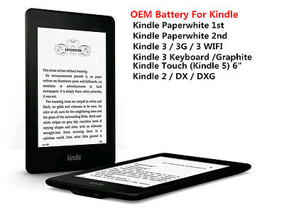 OEM Battery For Amazon Kindle PaperWhite 1st / 2nd Kindle 2 / 3rd / Touch Series