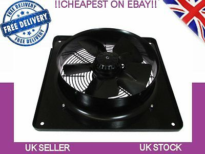Industrial Kitchen Extract Plate Fan, Commercial Extractor 350mm, 4 Pole, Sucker