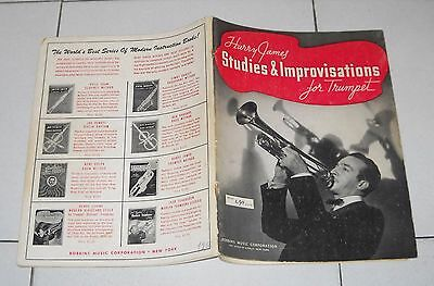 HARRY JAMES Studies & Improvisations FOR TRUMPET Robbins Music 1939 Method Jazz