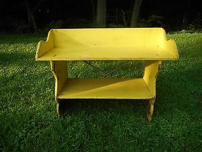 Antique 19thC Pennsylvania Mortised & Dovetailed Bucket Bench