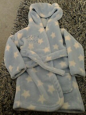 Boys George hooded dressing gown 12-18months