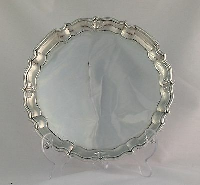 Silver Salver Waiter 4 Footed 1912 Carrington & Co. George V Antique Sterling
