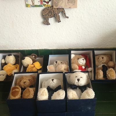 Goldsmiths Collectors Teddy Bear Joblot x8, jewelry holder, gift, engagement