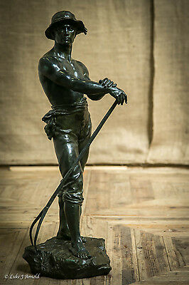 A Bronze Figure 'le Faneur'  Late 19Th Century, After Charles Levy (1820-1899)