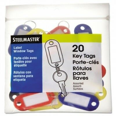 MMF Industries 201400647 Colour-Coded Key Tags with Label Window Plastic 2 x