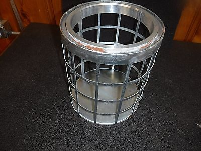 "NEW 5RWL8 Side Square Perforations Suction Strainer, Steel, 11"" Dia (B)"