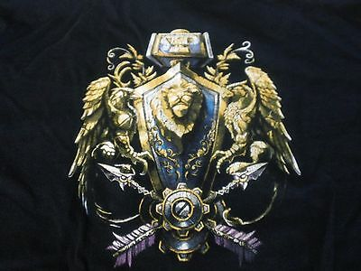 World of Warcraft Black T-Shirt Blizzard Entertainment Size: XL   #30024
