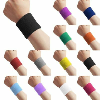 Unisex Wristband Sports Wrist Sweatband Tennis Badminton Gym Cycling Running