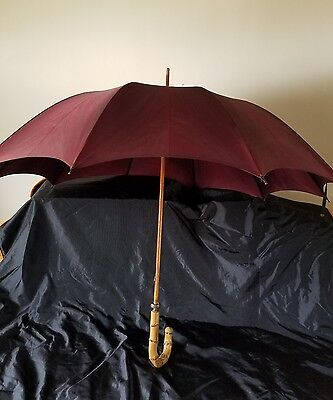 Antique Made by Sweson for Kant Rust Umbrella Chinese Bamboo Wood