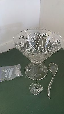 star of david punch bowl set